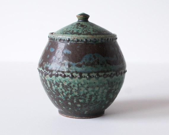 Ancient Turquoise Jar, Stoneware, Large