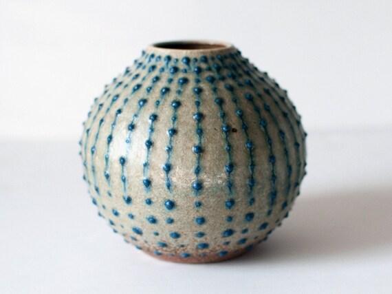 Spotted Bud Vase, Stoneware
