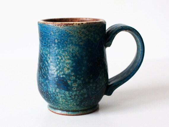 Blue Lagoon Mug, Stoneware, 14 Ounces