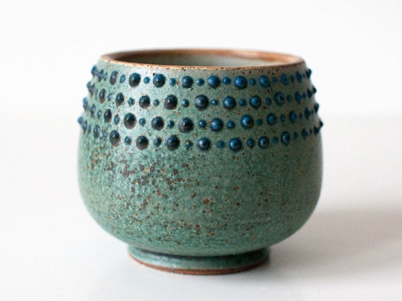 Spotted Turquoise Cup, 10 Ounces