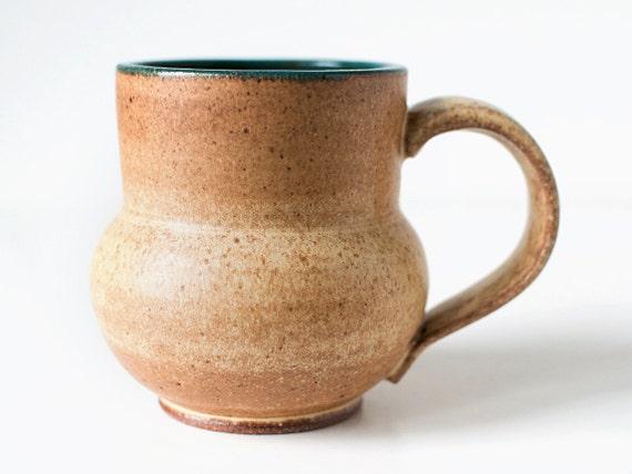 Speckled Yellow Mug, Stoneware, 16 Ounces