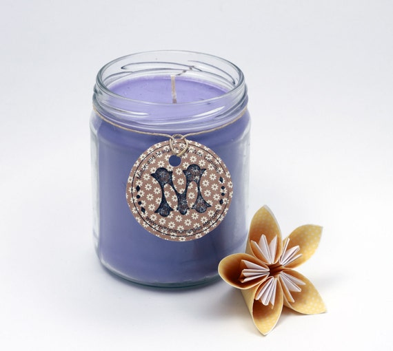 Lavender Soy Wax Candle in a Reused Canning Jar