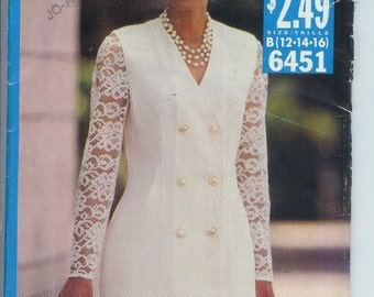 Butterick Misses Top and SKIRT Sewing Pattern 6451 Size B 12 14 16 UNCUT