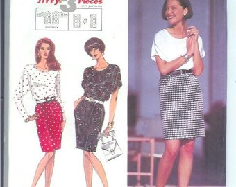 Simplicity Misses TOP and SKIRT Sewing Pattern 7928 Size aa pt-md Uncut