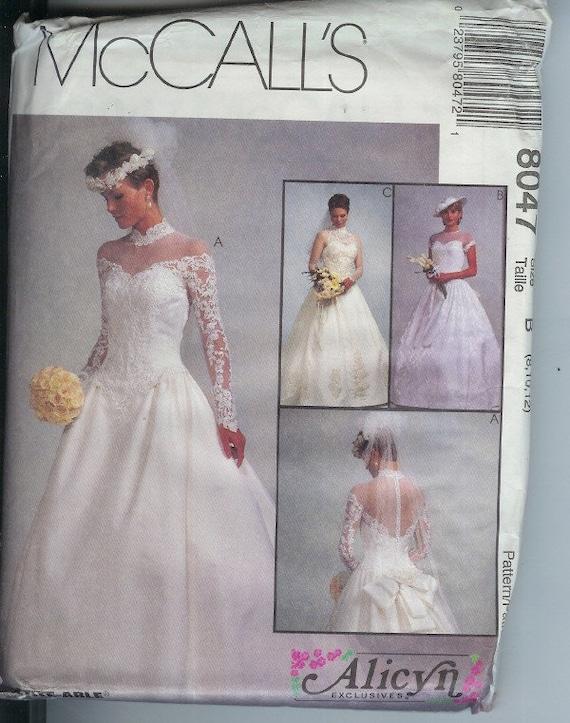 Mccall wedding dress bridal gown pattern 8047 b by for Wedding dress patterns mccalls
