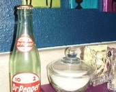 Vintage 1950's Dr. Pepper Bottle With Cap