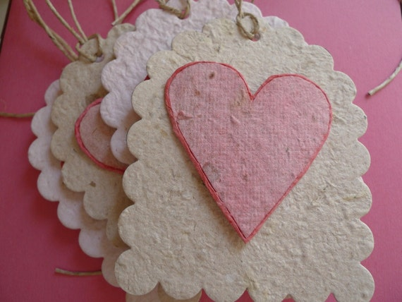 Plantable Paper Heart Tags