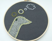 Greyhound Picture - Embroidery Wall Art