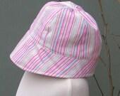Candy Stripe Bonnet style Hat (Size 2)