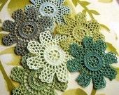Hand Crocheted Flowers--Scrapbooking Applique Set No 112