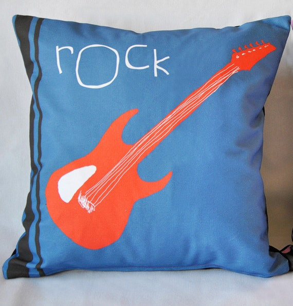 Music Cushion Cover Pillow Cover Rock