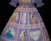 DISNEY Princess SQUARES Dress DAISY KINGDOM fab CUST