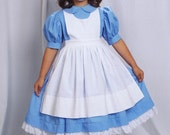 ALICE In WONDERLAND Dress/COSTUME Set Custom Size