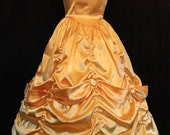 STUNNING BELLE Yellow GOWN Adult Size Costume