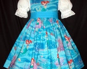 Ariel Little Mermaid on Blue Dress Disney Custom Size