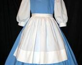 Belle Blue PROVINCIAL Costume 4 Pc SET Child Size
