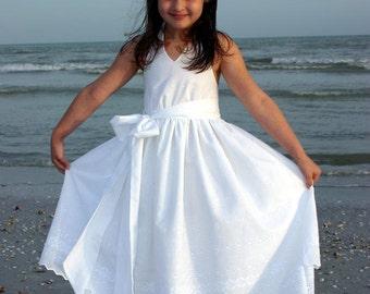 DOUBLE Eyelet BORDER Beach Portrait Halter Dress CUSTOM