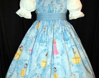 Disney Princesses on Blue Custom Size