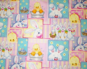EASTER Bunnies on Pastels DRESS Custom SIZE