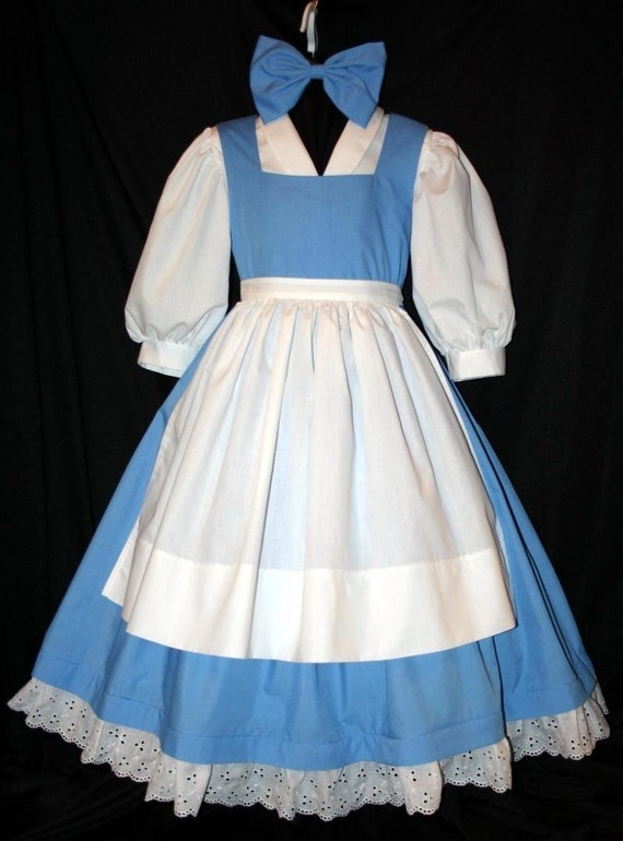 Disney BELLE Blue PROVINCIAL 4 PC COSTUME/Dress SET by mom2rtk