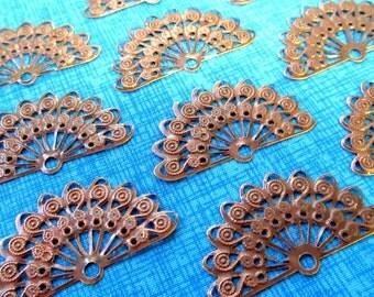 Antique Copper Filigree Filigree Fans, Filigree Findings, Flexible Filigree...12