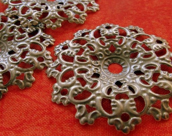 Filigree Circles,Antique Copper,Victorian Round,Filigree Stamping,Stamped Metal,Flexible Filigree,Copper Filigree,Wholesale,Bulk 12-50 pcs.