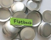 50 Flat Back Buttons to Cover - 1 1/2 inches