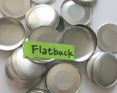 100 Flat Back Buttons to Cover - 1 1/2 inches