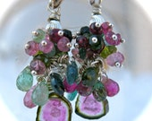 RESERVED FOR  carouski  HOLIDAY SALE 25 PERCENT 0FF Watermelon waterfall Earrings ORIGINALLY 125.00