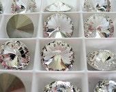 4 Crystal Foiled Swarovski  Rivoli Stone 1122 14mm