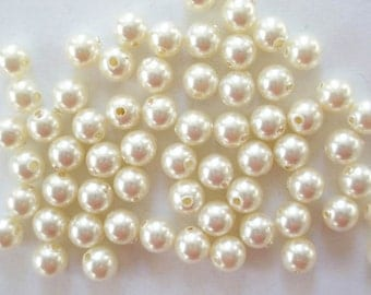 100 Cream Swarovski Crystal Beads Pearls 5810 4mm