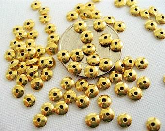 25 Bali en argent Vermeil soucoupe perles 3,5 mm