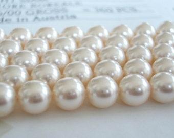 25 Creamrose Swarovski Crystal Beads Pearls 5810 8mm