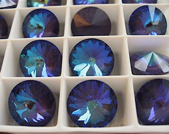 4 Ultra Purple AB Swarovski  Rivoli Stone 1122 14mm