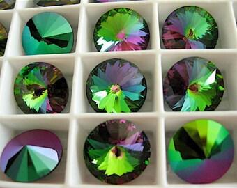 6 Crystal Electra Swarovski  Rivoli Stone 1122 12mm