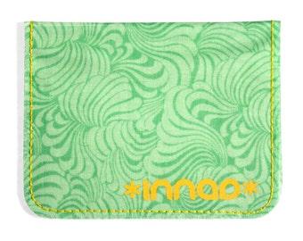Mint Green Psychedelic Swirl Cotton / Vinyl Wallet