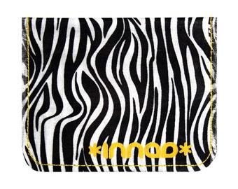 Black White Mini Zebra Cotton / Vinyl Wallet