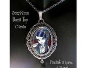 Tribal Fusion Gothic Belly Dancer FAIRY Art CAMEO Pendant NECKLACE by Myka Jelina