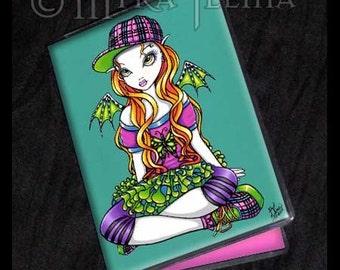 Punky Rainbow Fairy Art ID Business Card Holder Micky