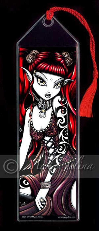 Terra Gothic Red Tribal Tattoo Fairy BOOKMARK