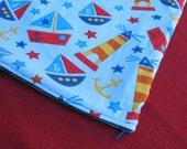 SALE PUL Wet Bag Size Medium, Sailboat Blue
