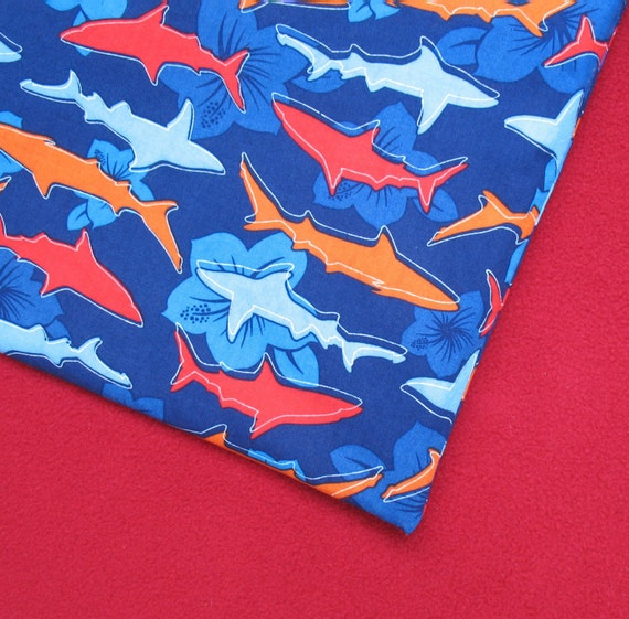 PUL Wet Bag Size Large, Shark Attack
