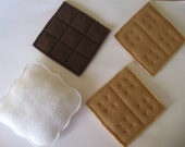Felt Play Food S'mores - Machine Embroidery Designs