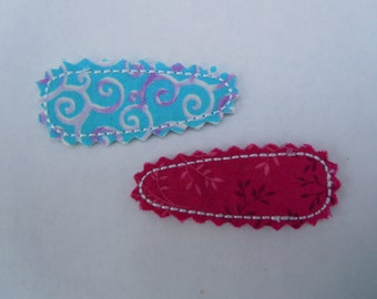Hair Clip Covers - Machine Embroidery Design