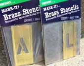 RESERVED FOR BLOOMSBURY- Brass Stencils