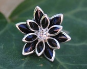 Fabulous Flower Ring - Black