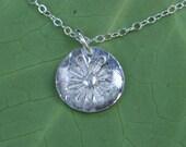 CLEARANCE - Fine Silver Sunburst Necklace