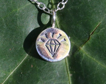 CLEARANCE - A New Kind of Diamond Pendant Necklace