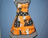 SALE- Halloween Apron- Ghastlies with  ON SALE and FREE SHIPING IN U.S.