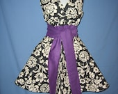 High Tea apron- Purple